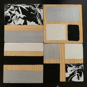 Hand Painted Wood Coasters
